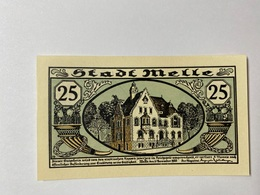 Allemagne Notgeld Melle 25 Pfennig - [ 3] 1918-1933 : République De Weimar