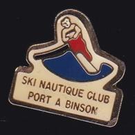 64009- Pin's -Ski Nautique Club Port à Binson. - Ski Nautique