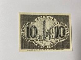 Allemagne Notgeld Namslav 10 Pfennig - [ 3] 1918-1933 : République De Weimar