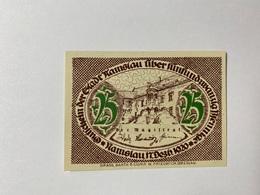 Allemagne Notgeld Namslav 25 Pfennig - [ 3] 1918-1933 : République De Weimar
