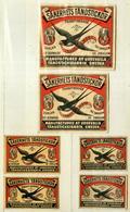 4+2 Alte Zündholzetiketten Aus Schweden, Säkerhets Tändstickor, The Swallow,  Manufactured At Uddevalla In Sweden. - Matchbox Labels