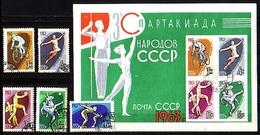 RUSSIA / RUSSIE - 1963  - 3 Spartakiades Des Peuple Sovietiques  - 5v Obl. + Bl - 1923-1991 USSR