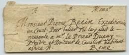 LàC 1616 D'Avignon Pour Rome Signée A. Barrier , Docteur Agrégé , Par Pierre Recin Expéditionnaire . - Marcophilie (Lettres)