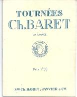 """ProgrammeTournée Charles Baret 1927 """"Romance"""" De Flers De Croisset  M E Sheldon Zabeth Capazza Demanne - Programs"""