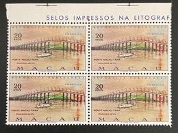 MAC3435MNH-Macau-Taipa Bridge - Block Of 4 MNH Stamps - Macau - 1974 - Blocs-feuillets