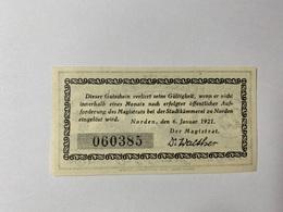 Allemagne Notgeld Norden 25 Pfennig - [ 3] 1918-1933 : République De Weimar