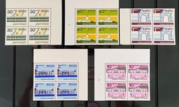 MAC3460-64MNH-Macao Public Buildings And Monuments - Complete Set Of 5 Blocks Of 4 MNH Stamps -  Macau - 1982 - Blocs-feuillets