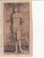 Oude Gravure - Sint-Sebastiaan - Graveur: J. Popels - Religion &  Esoterik