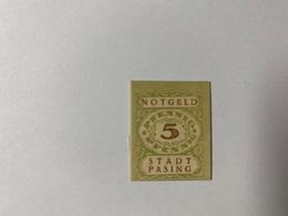 Allemagne Notgeld Pasing 5 Pfennig - [ 3] 1918-1933 : République De Weimar
