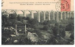 CPA LA LIGNE FONTENAY-LE-COMTE A CHOLET- LE VIADUC DE BARBIN EN CONSTRUCTION - Cholet