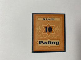 Allemagne Notgeld Pasing 10 Pfennig - [ 3] 1918-1933 : République De Weimar