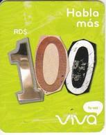 TARJETA DE REPUBLICA DOMINICANA DE VIVA RD$100 - Dominicaine