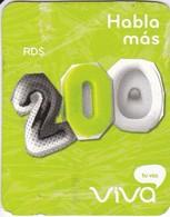 TARJETA DE REPUBLICA DOMINICANA DE VIVA RD$200 - Dominicana