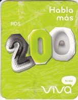 TARJETA DE REPUBLICA DOMINICANA DE VIVA RD$200 - Dominicaine