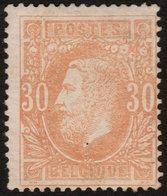 ✔️ België 1869 - Leopold II  - OBP 33 * MH - €110 - 1869-1883 Leopoldo II