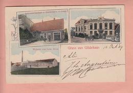OLD POSTCARD -  GERMANY - DEUTSCHLAND - GRUSS AUS GILDEHAUS - WEBEREI - WIRTSCHAFT - BAECKEREI - Bentheim
