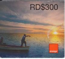 TARJETA DE REPUBLICA DOMINICANA DE ORANGE RD$300  PESCADOR - Dominicaanse Republiek