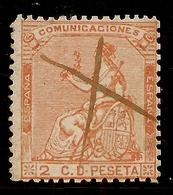 España Edifil 131 (º)  2 Céntimos Naranja  Corona Y Alegoría España  1873  NL296 - 1872-73 Reino: Amadeo I