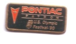 VP169 Pin's Car Voiture Pontiac Usa  Patron Olympic Festival 90 Achat Immédiat - Pin's