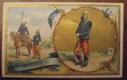 Chromo Image Bon Point Chromo. Vers 1880-1890. Soldat Dragon. Verso Vierge - Chromos