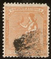 España Edifil 131 (º)  2 Céntimos Naranja  Corona Mural Y Alegoría  1873  NL1554 - 1872-73 Reino: Amadeo I