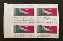 MAC3801MNH-Macau International Airport - Block Of 4 MNH 1 Pataca Stamps - Macau - 1995 - Blocs-feuillets