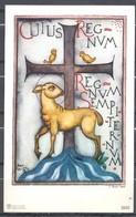 Image Pieuse CUJUS REGNUM Signée JOAN COLLETTE - Images Religieuses