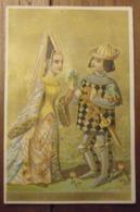 Chromo Image Bon Point Chromo. Vers 1880-1890. Seigneur Et Châtelaine XVème Siècle. Verso  écrit - Chromos