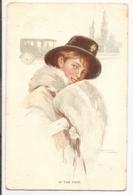 FF 305 OLD ( 1919 )   FANTASY POSTCARD , FINE ART , PAINTINGS , FEMALE FIGURATIVE , Signed - Arts