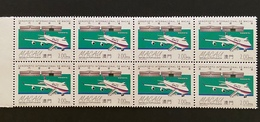 MAC3803MNHx8-Macao International Airport- Block Of 8 MNH 2 Patacas Stamps - Macau - 1995 - Blocs-feuillets