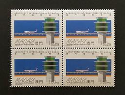 MAC3804MNH-Macao International Airport- Block Of 4 MNH 3 Patacas Stamps - Macau - 1995 - Blocs-feuillets