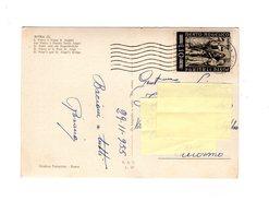 P0531 STORIA POSTALE BEATO ANGELICO L.10 ISOLATO SU CARTOLINA - 6. 1946-.. Repubblica