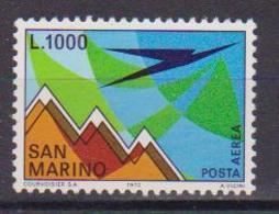 SAN MARINO POSTA AEREA 1972 AEREO E MONTE TITANO SASS. 150 MNH XF - Poste Aérienne