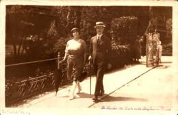 Baden-Baden Spaziergänger Paar Im Park Von Hotel Stephanie Ugl Datiert 1922 - Baden-Baden