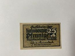 Allemagne Notgeld Rochlitz 25 Pfennig - [ 3] 1918-1933 : République De Weimar