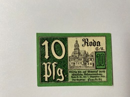 Allemagne Notgeld Roda 10 Pfennig - [ 3] 1918-1933 : République De Weimar