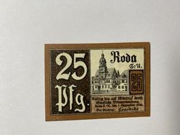 Allemagne Notgeld Roda 25 Pfennig - [ 3] 1918-1933 : République De Weimar