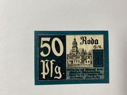 Allemagne Notgeld Roda 50 Pfennig - [ 3] 1918-1933 : République De Weimar