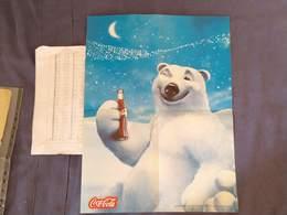 Argentina Argentine Coca Cola Bear Publicity Poster ORIGINAL     #7 - Afiches Publicitarios