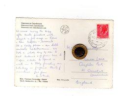 P0534  STORIA POSTALE SIRACUSANA TURRITA L.35 ISOLATO PER ESTERO SU CARTOLINA 1957 - 6. 1946-.. Repubblica