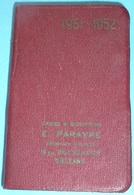 Rare Carnet Agenda Du Chasseur Calendrier 1951-1952 Publicitaire Pub GEVELOT, Armes Et Munitions Parayre Orléans 45 - Calendriers