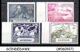 ASCENSION  - 1949 75th Anniversary Of UPU - 4V SET MINT NH - UPU (Wereldpostunie)