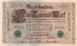 GERMANY- 100 MARK 1910  P-45b  Xf+qaunc  SERIE C 2590872  B - [ 2] 1871-1918 : German Empire