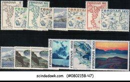 FAROE ISLANDS - 1975 DEFINITIVES SG#6-19 - 14V - MINT NH - Isole Faroer