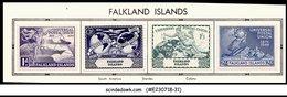 FALKLAND ISLANDS - 1949 75th Anniversary Of UPU - 4V MINT HINGED - UPU (Wereldpostunie)