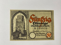 Allemagne Notgeld Stendal 50 Pfennig - [ 3] 1918-1933 : République De Weimar