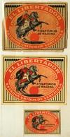 1+2 Alte Zündholzetiketten Aus Schweden, El Libertador, Fosforos De Madera, Estados Unidos De Venezuela. - Matchbox Labels