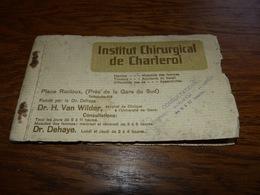 Carnet Avec 7 Cpa  Institut Chirurgical De Charleroi - Charleroi