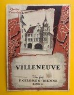 13224 -  Villeneuve Vins Fins F.Gilomen Bienne - Labels
