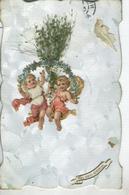 Mes Voeux Sincères - Bon état- Motifs Collés Et Fleurs Sèchées- Circulée 1906 - Anges